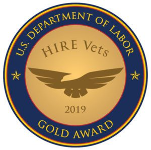 Gold HIRE Vets Medallion