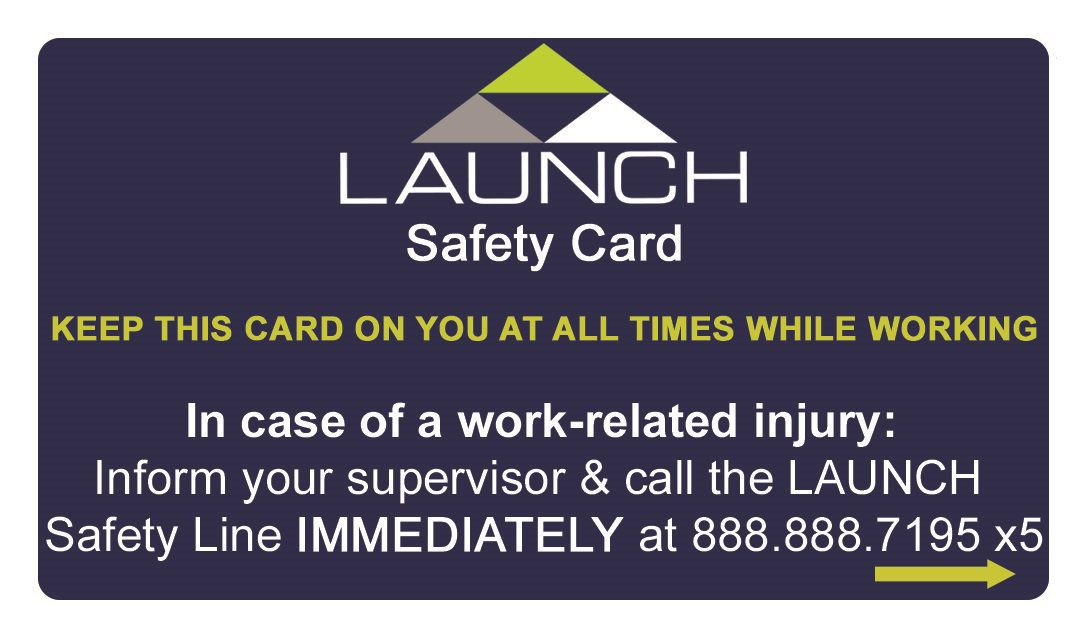 LAUNCH Safety Card